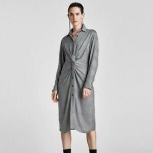 Zara Twist Front Buttoned Down Dress - Size XXL